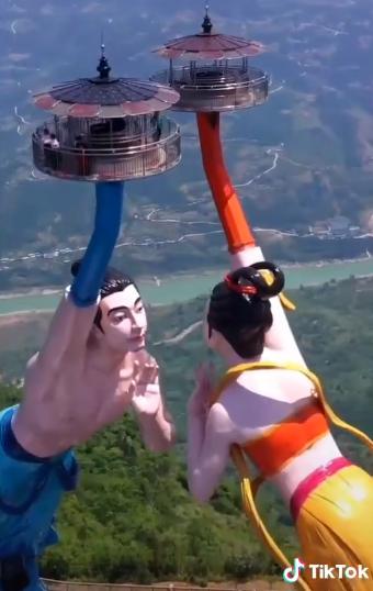 【動画】中国にとんでもない絶景のアトラクションが完成wwwwwwwwwww