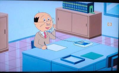 【悲報】磯野波平さん、コードの繋がっていない電話にひたすら話しかける【画像】