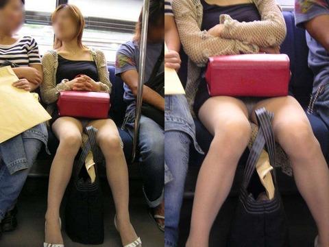 【電車内の女の子】ミニスカートなのにどーして無防備なの?パンツ見たら(゜益゜)くせに!!画像 30枚
