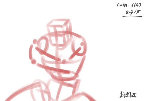 線画化026:二次:ガイル01