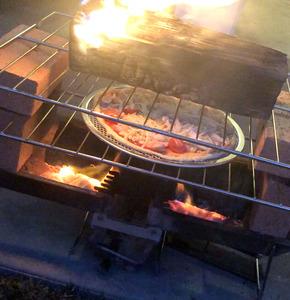 簡易ピザ窯