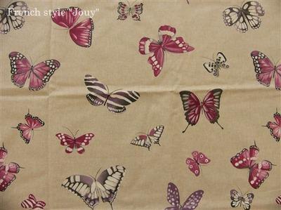 フランス生地蝶々柄