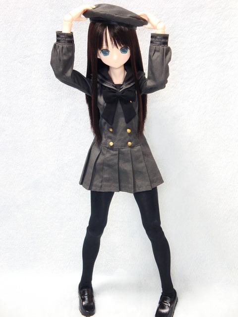 エレン ギムナジウムセーラーワンピ 黒 (14)