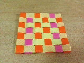格子編みコースター1