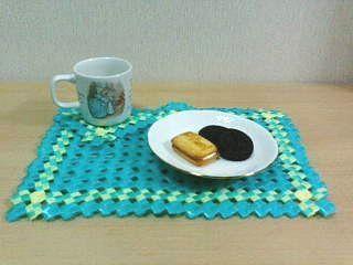 PP石畳編みコースター&ランチョンマット