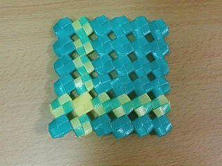 PP石畳編みコースター1