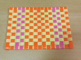 格子編みランチョンマット2