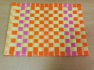 格子編みランチョンマット1