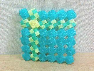 PP石畳編みコースター2
