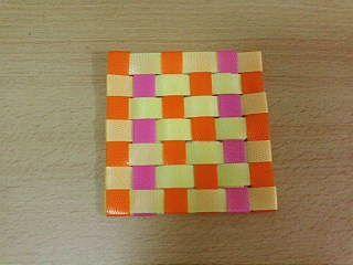 格子編みコースター2