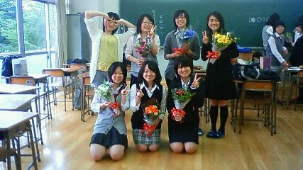 生徒会を卒業するときの記念写真