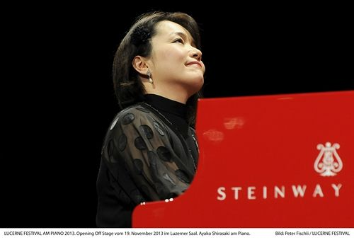 Ayako red piano at Luzern