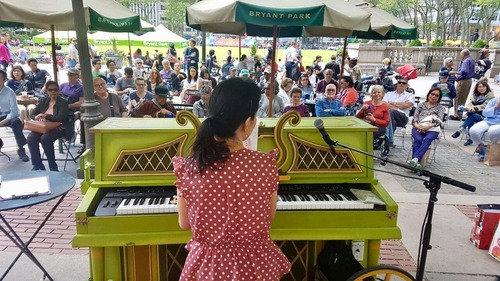 piano in bryant park 2019