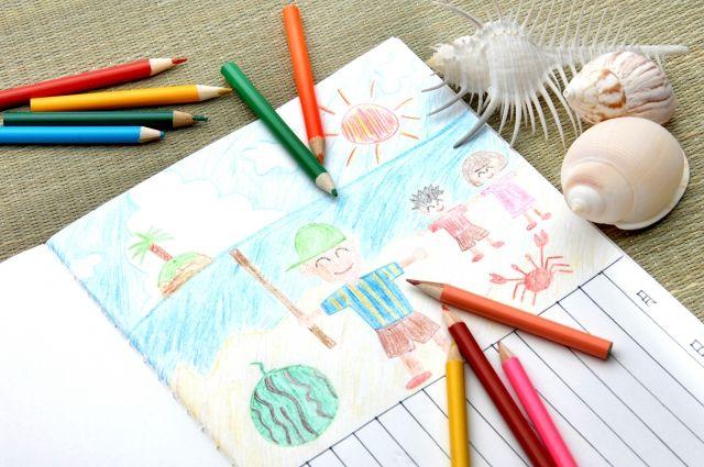 夏休み宿題絵日記
