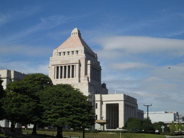 内閣改造国会議事堂
