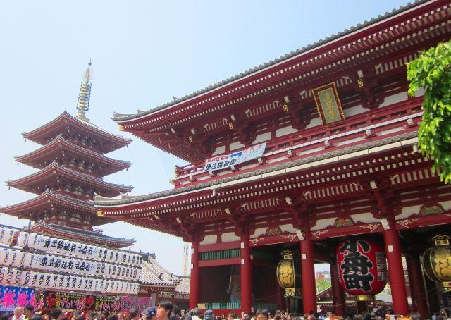 浅草寺訪日外国人