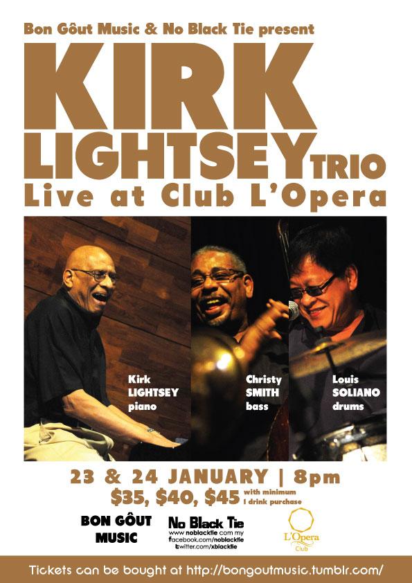 Kirk Lightsey Trio at Club L'Opera