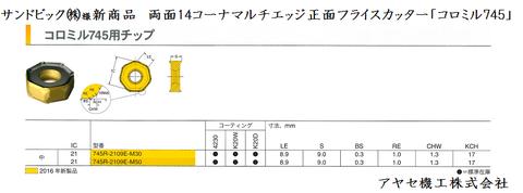 サンドビック カッタコロミル745カッター (5)