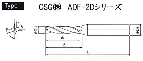 超硬フラットドリルADF 形状1