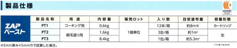 三井住友金属鉱山伸銅 ザップペースト アヤセ機工 (製品仕様)
