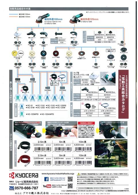 kyocera RYOBI ディスクグラインダー (3)