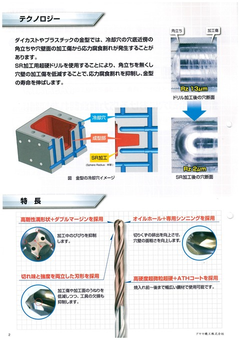 三菱日立ツール SR球面加工用超硬ドリル (2)
