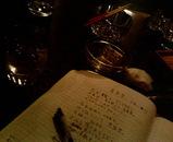 大陸バーで詩作。
