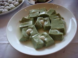 ほうれん草豆腐