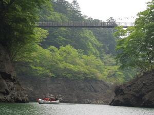 Eボート体験回顧のつり橋