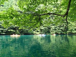 板室ダム湖カヌー