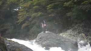 布滝の上で