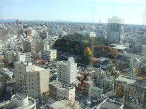 展望レストランからの眺め筑波山方面