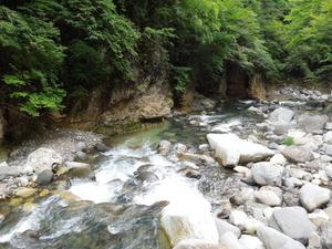 仙人岩つり橋下流