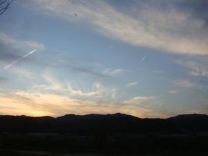 美しい夕景