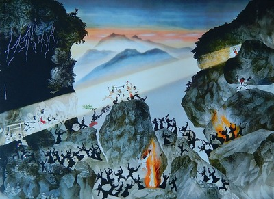 10月「天の岩屋戸と八百万神の舞」