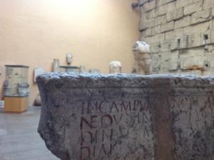 古代ローマの遺物がごろごろ