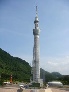 東武ワールドスクエアの東京スカイツリータワー