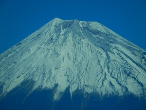 新富士駅手前からの富士山