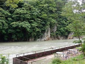 今朝の箒川