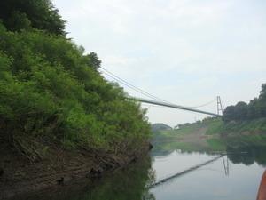 今度はもみじ谷大つり橋が見えてきました