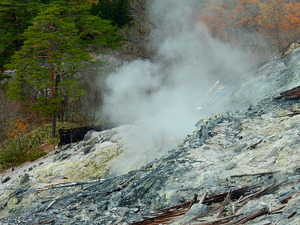 新湯爆裂火口跡