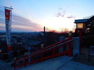 織姫神社からの夕景