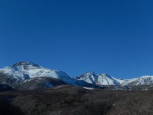 冬晴れの那須岳