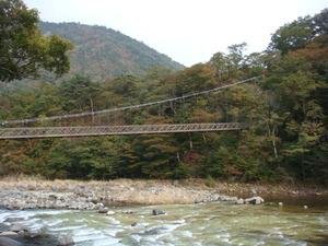 秋の七つ岩つり橋