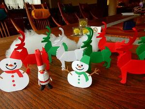クリスマスのペーパークラフト