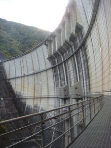 川治ダムのキャットウオーク