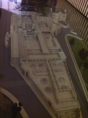 古代ローマの温泉施設の模型