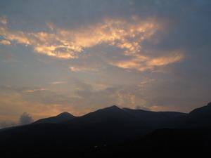 那須連山の夕焼け