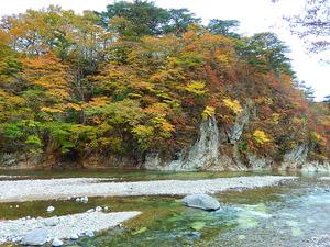 彩つむぎ前の紅葉