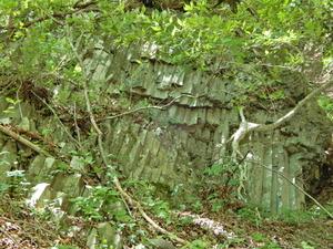 竜化の滝の柱状節理